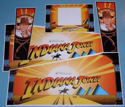 Indiana Jones Cabinet Decal Set 5 Pce | Mr Pinball