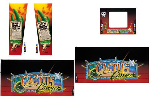 Cactus Canyon - 5 Piece Cabinet Art Set
