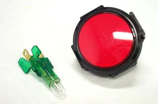 """Button Red 2"""" with Light"""