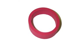 """1/2 x 1"""" Small Flipper Rubber - Red"""