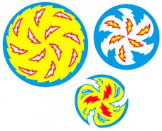 Whirlwind Spinning Disc decal set - with heavy textured laminate