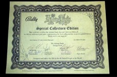 Addams Gold Gold Certificate