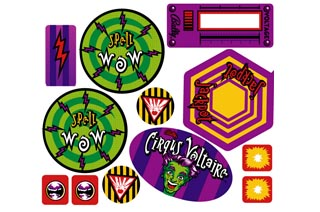 Cirqus Voltaire- Playfield Decal Set
