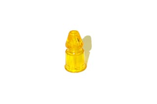 """1-3/16"""" FACETED POST-Clear Yellow"""
