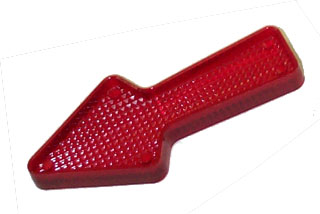 "Playfield Insert: Arrow 2 1/2"" stippled red"