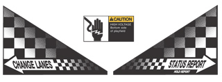 Indy 500 Apron Decal Set