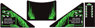 Creature from the Black Lagoon Apron Decal Set