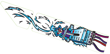 Cirqus Voltaire Dog Shooter Ramp Decal - Reverse-Print