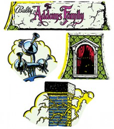 Addams Family Cloud Topper Decal Set