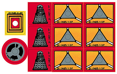 Dr Who Target Decal Set - Die Cut With Protective Matte Laminate