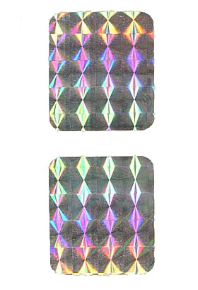 Spinner decal prism foil set (2)