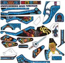 Swords Of Fury Playfield Plastics Set