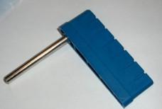 Flipper Bally w/shaft Blue Ribbed