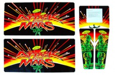 Attack from Mars Cabinet Decal Set