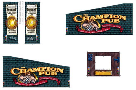 Champion Pub - 5 pce Cabinet Art Set