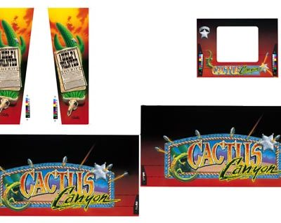 Cactus Canyon - 5 Piece Cabinet Art Set