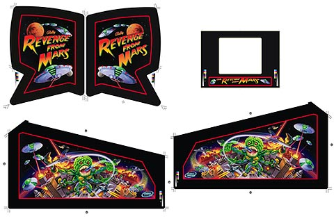 Revenge From Mars Cabinet Art Set