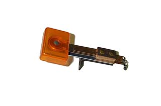 Stationary Target  - Back Mounting - Rectangular - Transparent Orange