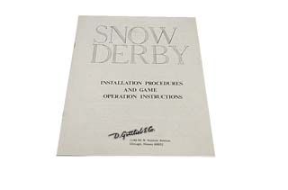 Snow Derby Manual - Used