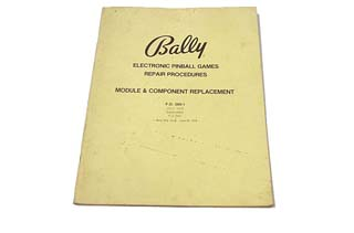 Bally Repair Procedures Manual - FO-560-1 - Used