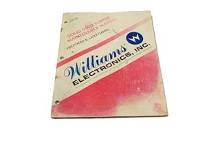 Williams 16P-497-100 Flipper Maintainance Manual - Used