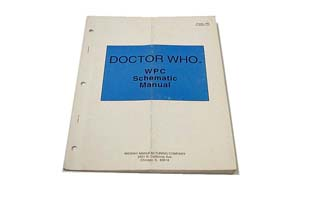 Dr Who WPC Schematic Manual - Used