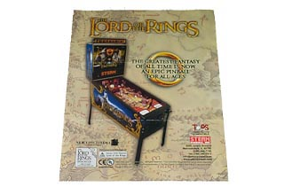 Flyer For Lord of The Rings Pinball