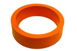 Wide Flipper Rubber-Orange