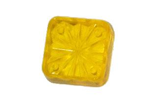 "Playfield Insert: Square 3/4"" Starburst transparent Yellow"