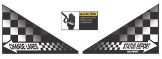 Indy 500 Apron Decal Set