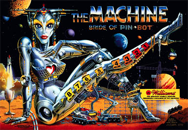 The Machine Bride Of Pinbot Translite