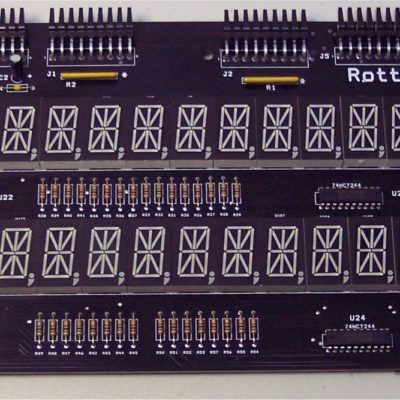 Data East Dual 16 Digit LED Display