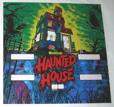 Gottlieb Haunted House Backglass