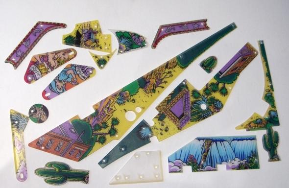 Cactus Canyon Screenprinted Playfield Plastics Set