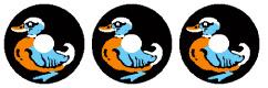 3 Cyclone Duck Target Decals