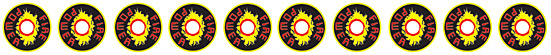 Firepower Target Decal 10 Pce Set