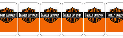 Harley Davidson Target Decal Set - 6 pieces