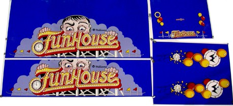 Funhouse Cabinet Decal Set
