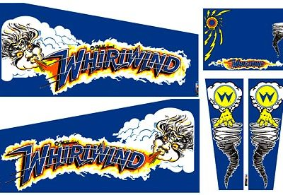 Whirlwind Cabinet Art Decal Set