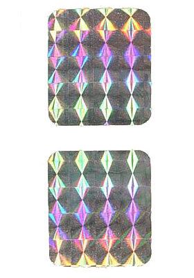Spinner decal prism foil set (2)
