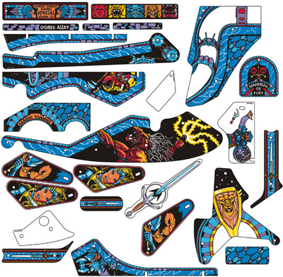 Swords Of Fury Playfield Plastics Set
