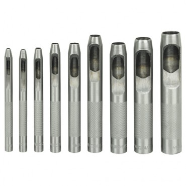 9 Piece Hollow Punch Set
