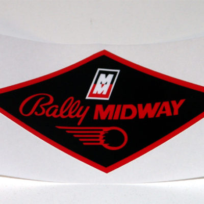 Bally Midway Coin Door Decal